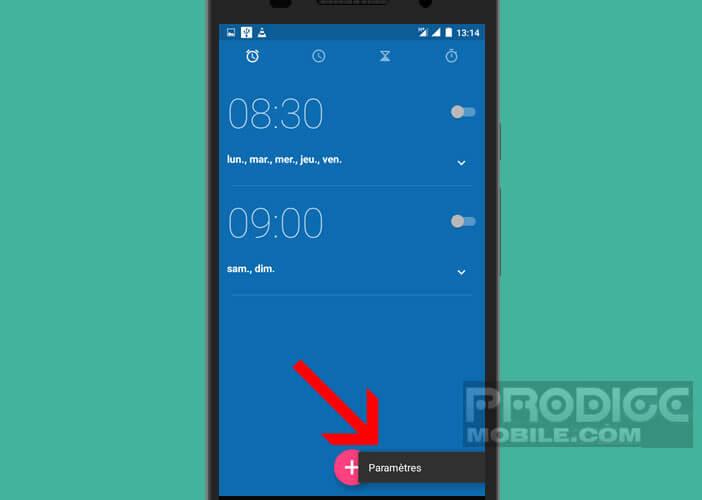 Modifier les paramètres de la sonnerie de l'alarme