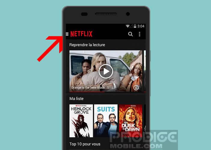 Modifier les paramètres de lecture de Netflix