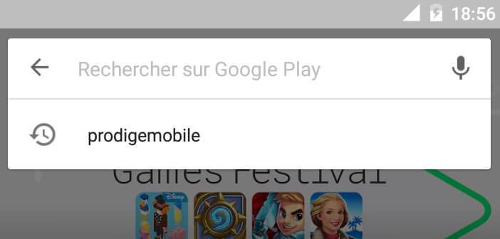 Supprimer toutes les recherches saisies dans l'application Play Store