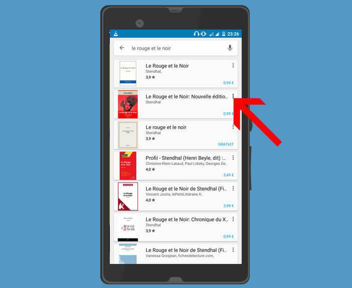 Visionner un ebook depuis le Play Store