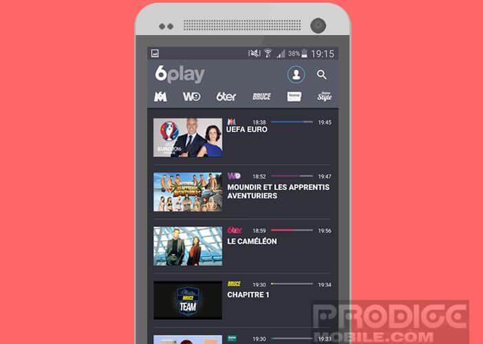 Profiter du direct du chaînes du groupe M6 sur mobile et tablette