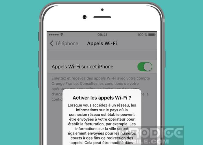 Activer l'option Appels Wi-Fi sur un iPhone