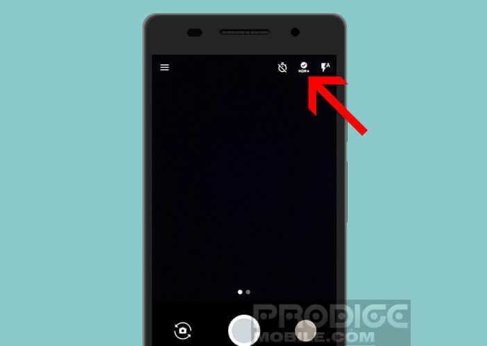 Activer la fonction HDR sur l'application appareil photo d'un mobile