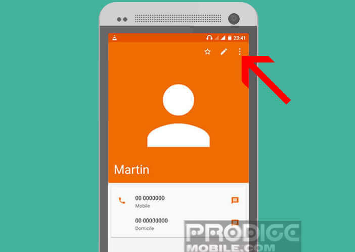 Ajouter un surnom dans l'application Contact sur Android