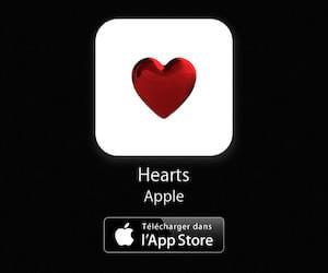 Les autocollants en forme de coeur pour agrémenter les SMS