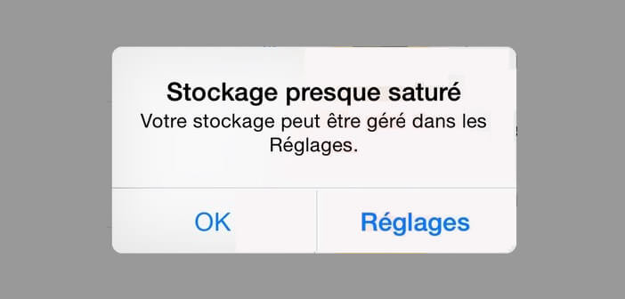 Effacer des données de l'espace de stockage iCloud