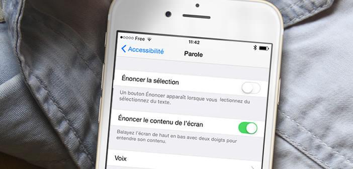 Faire un lire un texte à haute voix à son iPhone