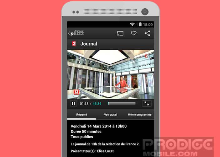 Francetv Pluzz: application TV direct et replay