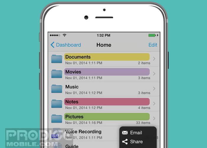Un gestionnaire de fichiers pour iPhone
