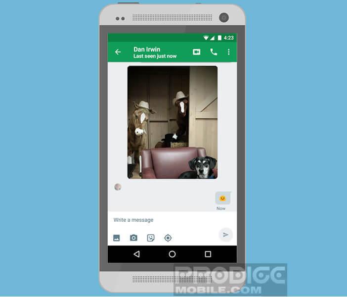 Partager des images avec l'application Hangouts