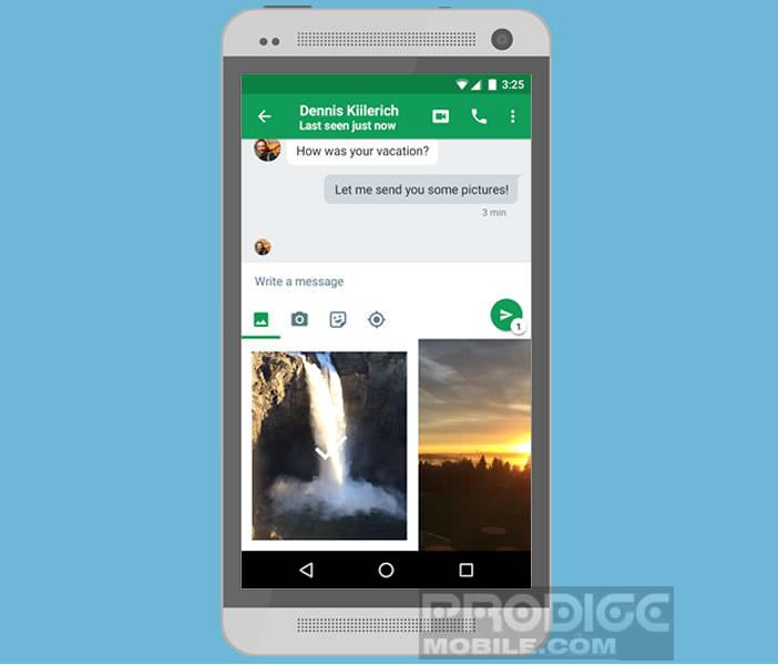 Passer des appels visioconférence depuis l'application Hangouts