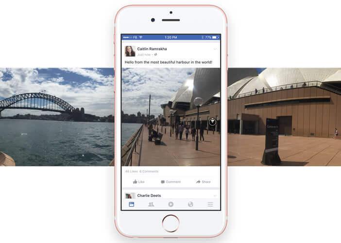 Consulter des images panoramiques sur sa timeline Facebook