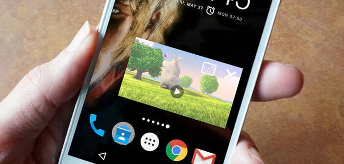 Lire une vidéo dans une fenêtre flottante sur un appareil Android