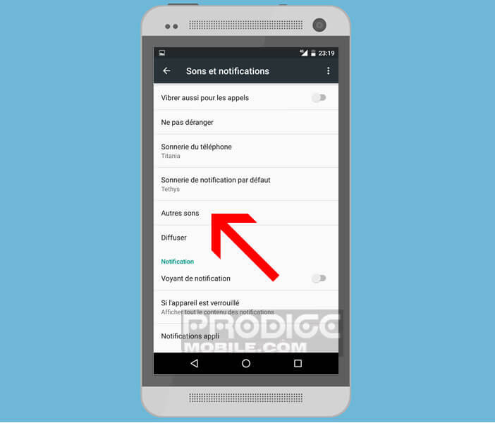 Modifier les paramètres du vibreur sur Android