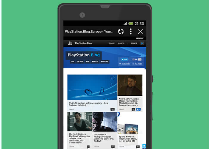 Application PlayStation App pour mobile et tablette Android