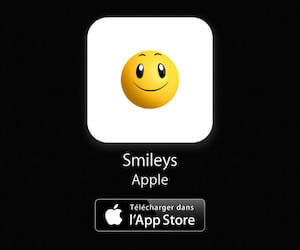 Les stickers smiley iPhone