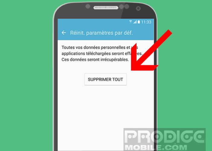 Supprimer toutes les données de votre Samsung Galaxy