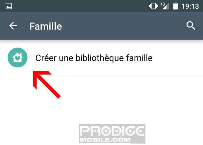 Créer une bibliothèque famille sur votre smartphone Android