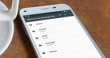 Gérer l'espace de stockage avec l'explorateur de fichiers Android