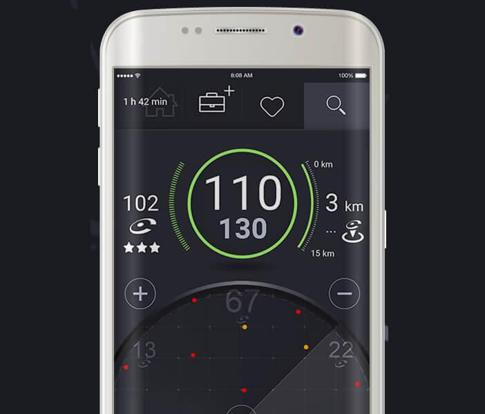 Recevez les alertes en temps réel sur l'application d'aide à la conduite