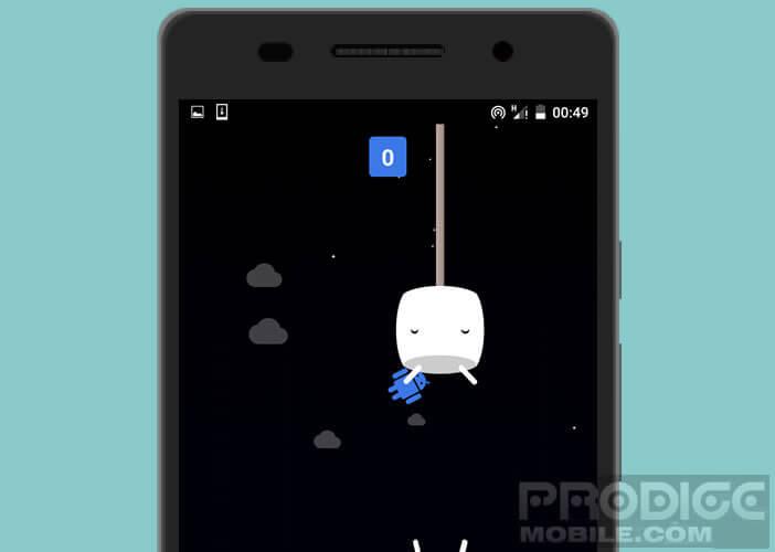 Lancer le jeu caché au fond des paramètres Android