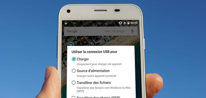 Modifier le mode de connexion USB sur un mobile Android