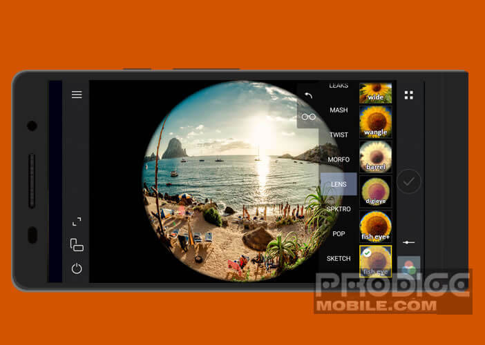 300 filtres photos intégrés par défaut dans l'appli Cameringo+