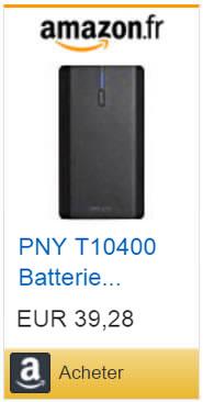 Batterie externe PNY avec double port USB