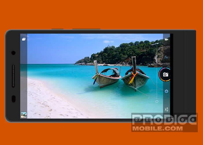 Application de photographie professionnelle pour les mobiles Android