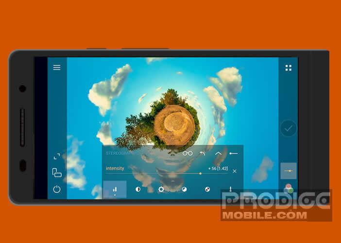Cameringo+ offre de nombreux réglages de l'appareil photo d'Android