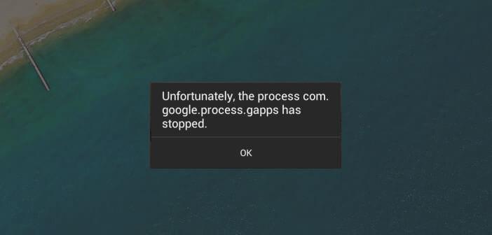 Solution au problème processus com.google.process.gapps
