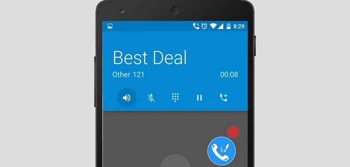 Une application pour prendre des notes durant un appel téléphonique