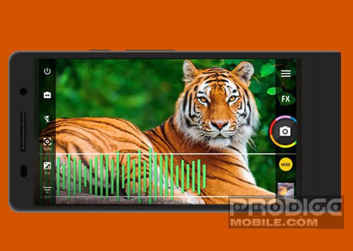 L'application Camera ZOOM FX propose plusieurs modes de prise de vue