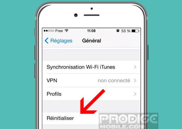 Remettre à zéro les paramètres de votre iPhone