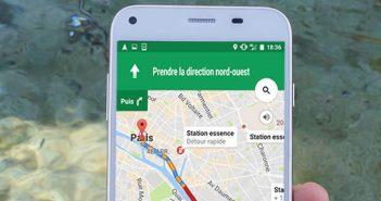 Localiser un station essence avec l'appli Google Maps pour Android