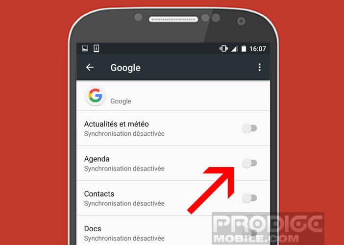 Activer l'option synchroniser le calendrier de S Planner sur un mobile Samsung