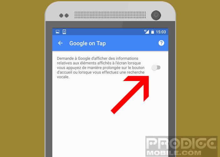 Activer la fonction Google Now On Tap sur votre mobile Android