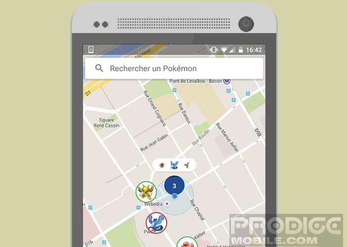 Afficher l'emplacement des Pokémon autour de vous sur une carte Google Maps