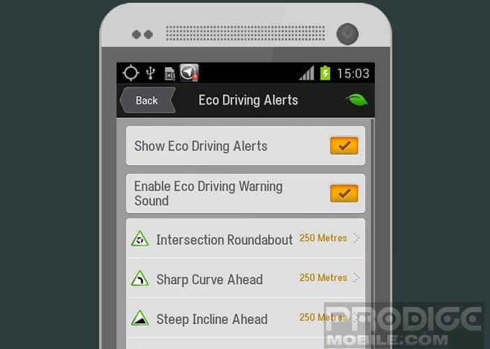 NavTruck propose un système d'alertes infos
