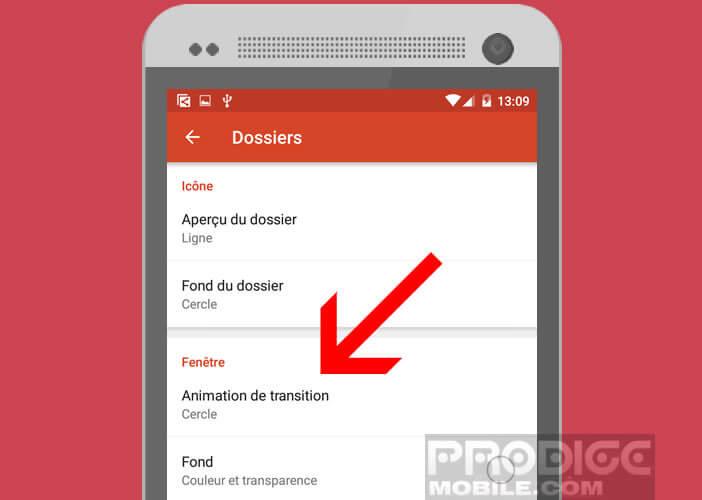 Modifier les animations de transition des fenêtres d'Android