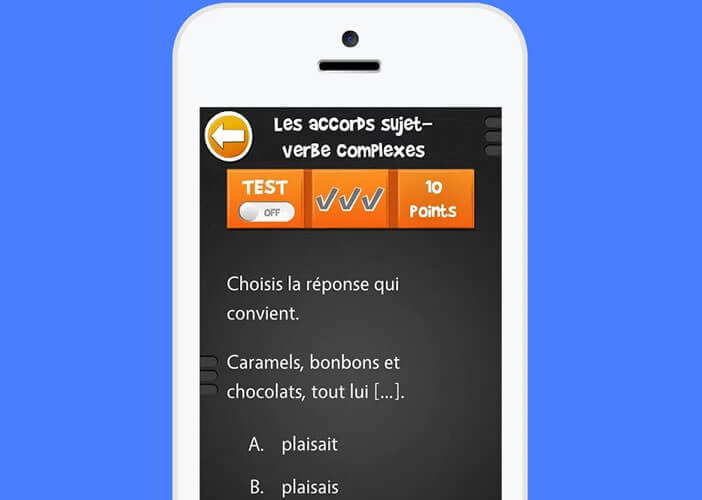 Application de soutien scolaire pour mobile Android