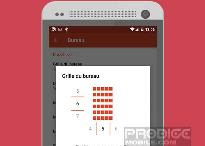 Augmenter le nombre d'icônes présentes sur le bureau du mobile