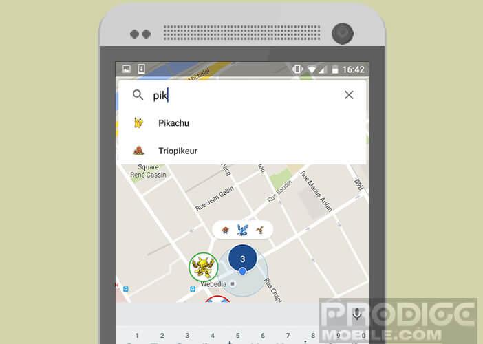Mettre en place des filtres pour la recherche de Pokémon sur Go Map