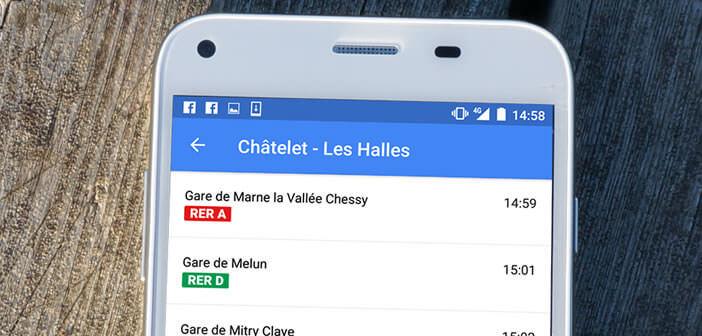 Afficher les horaires des trains, des métros et des bus dans Google Maps