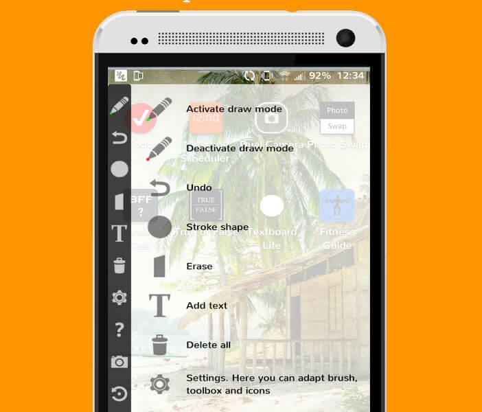 Prendre des notes sous forme de dessins sur un smartphone