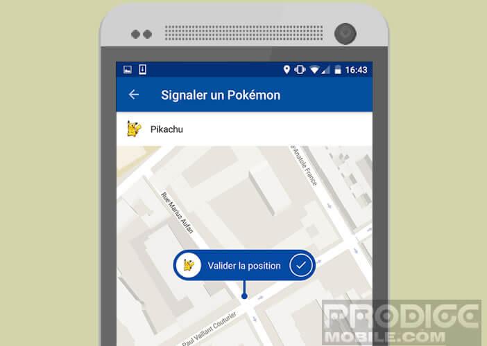 Signaler la présence d'un Miaouss ou d'un monstre dans l'application Go Map