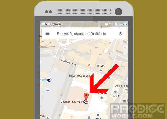 Choisir une station de bus ou de métro dans Google Maps
