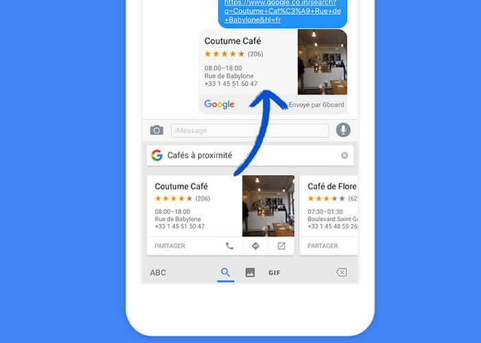 Partager facilement l'adresse de votre restaurant de votre application de messagerie