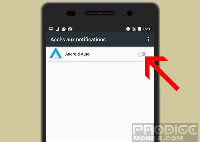 Autoriser Android Auto à accéder à vos notifications
