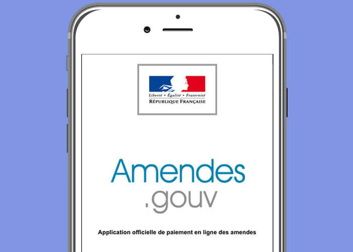 Application pour iPhone Amendes.gouv